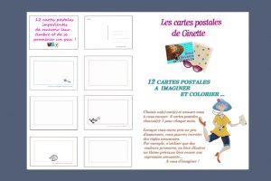 12-Cartes Postales ginette